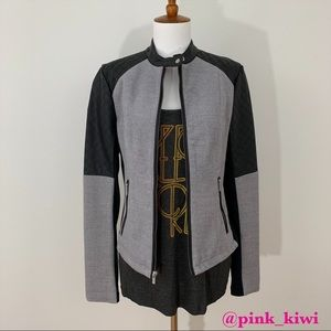 Express Faux Leather and Knit Jacket